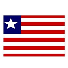 LIBERIA Flag Postcards (Package of 8)