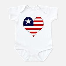 I Love LIBERIA Infant Bodysuit