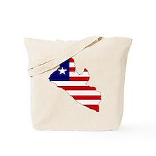 LIBERIA Flag Map Tote Bag