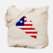 LIBERIA Flag Map Tote Bag