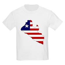 LIBERIA Flag Map T-Shirt