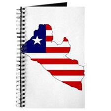LIBERIA Flag Map Journal