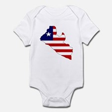 LIBERIA Flag Map Infant Bodysuit