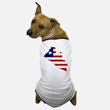LIBERIA Flag Map Dog T-Shirt