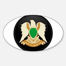 Coat of Arms of Libya Oval Decal
