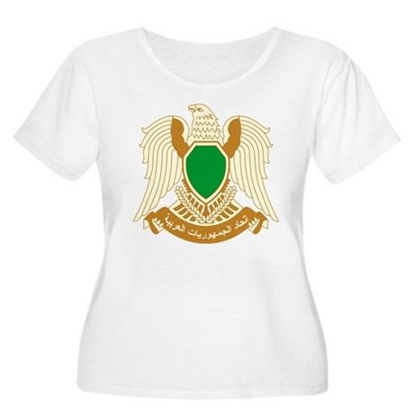 Libya Coat of Arms Women's Plus Size Scoop Neck T-