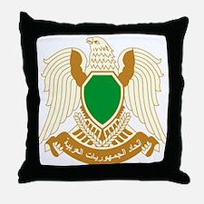 Libya Coat of Arms Throw Pillow