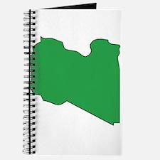 Libya Flag Map Journal