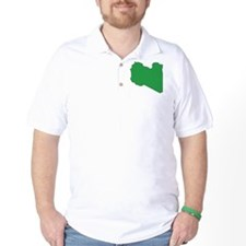 Libya Flag Map T-Shirt