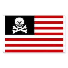 USA Skull & Bones Bumper Sticker Sticker (Rectangu