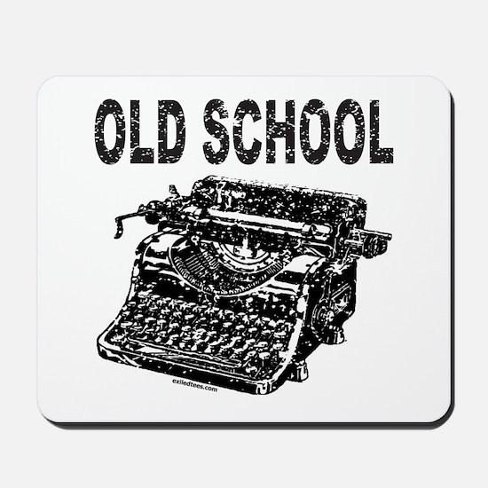 OLD SCHOOL TYPEWRITER Mousepad