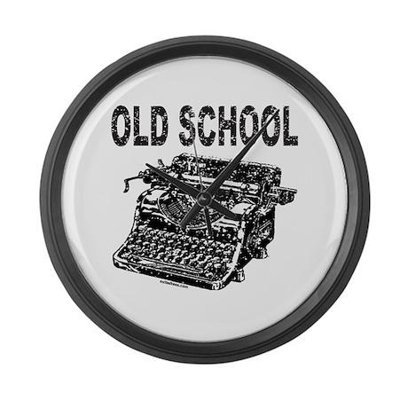 OLD SCHOOL TYPEWRITER Large Wall Clock