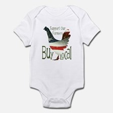 Support Our Farmers Buy Local Infant Bodysuit
