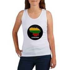 Flag Map of Lithuania Women's Tank Top