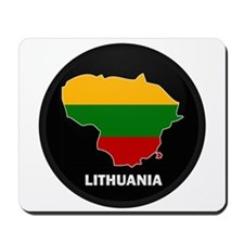 Flag Map of Lithuania Mousepad