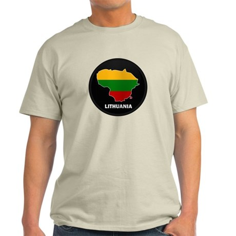 Flag Map of Lithuania Light T-Shirt