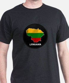 Flag Map of Lithuania T-Shirt
