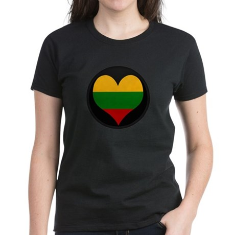 I love Lithuania Flag Women's Dark T-Shirt