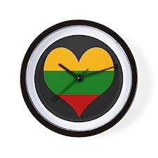 I love Lithuania Flag Wall Clock