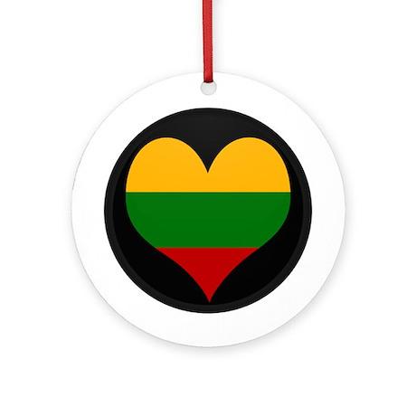 I love Lithuania Flag Ornament (Round)