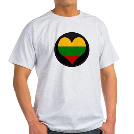 I love Lithuania Flag Light T-Shirt