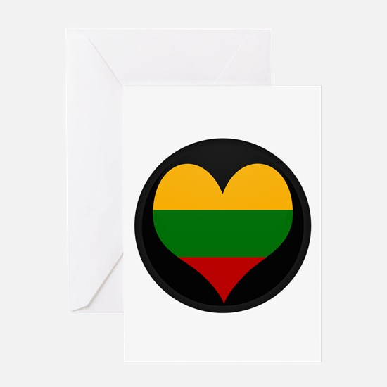 I love Lithuania Flag Greeting Card