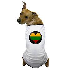 I love Lithuania Flag Dog T-Shirt