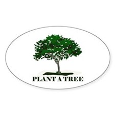 Plant a Tree Oval Sticker (10 pk)
