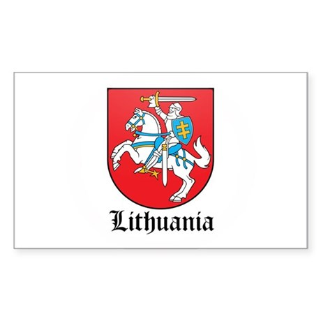 Lithuanian Coat of Arms Seal Rectangle Sticker