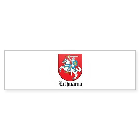 Lithuanian Coat of Arms Seal Bumper Sticker
