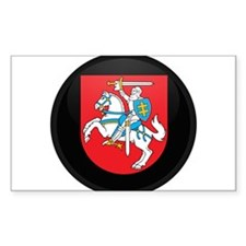 Coat of Arms of Lithuania Rectangle Decal