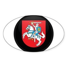 Coat of Arms of Lithuania Oval Decal