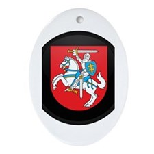 Coat of Arms of Lithuania Oval Ornament