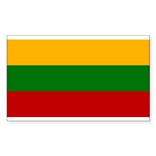 Lithuania Flag Rectangle Decal