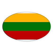 Lithuania Flag Oval Decal
