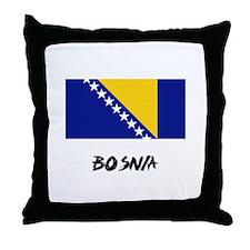 Bosnia Flag Throw Pillow