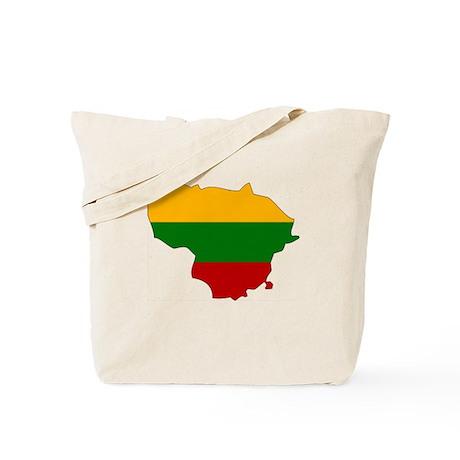 Lithuania Flag Map Tote Bag