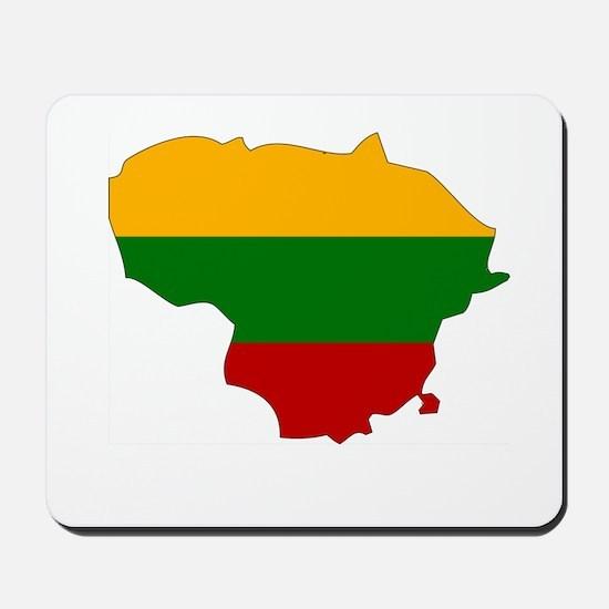 Lithuania Flag Map Mousepad