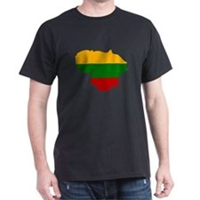 Lithuania Flag Map T-Shirt