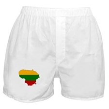 Lithuania Flag Map Boxer Shorts