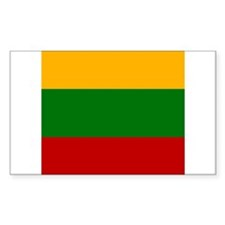 Lithuanian Rectangle Decal