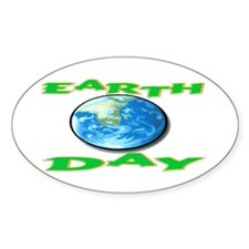 Earth Day 5 Oval Decal