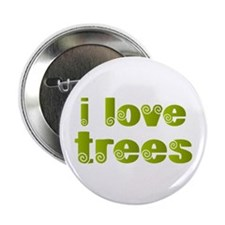 "I Love Trees 2.25"" Button"