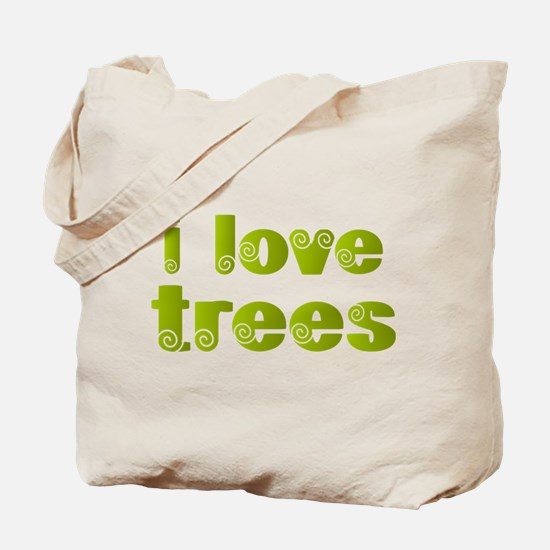 I Love Trees Tote Bag