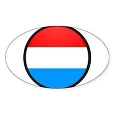 LUXEMBOURG Oval Decal