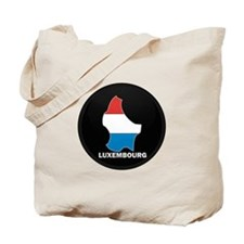 Flag Map of LUXEMBOURG Tote Bag