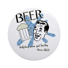 Beer! Ornament (Round)