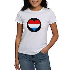 I love LUXEMBOURG Flag Tee