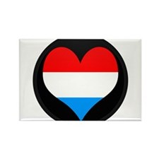 I love LUXEMBOURG Flag Rectangle Magnet
