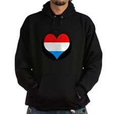I love LUXEMBOURG Flag Hoodie